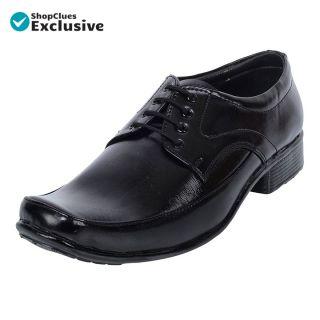 Shoeniverse Men's Black Derby Formal Shoes