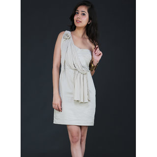 Schwof Chiffon Drape Dress