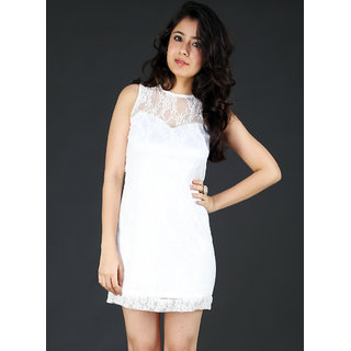 Schwof White Lace Dress