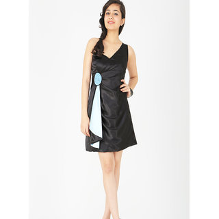 Schwof Black One Shoulder Dress