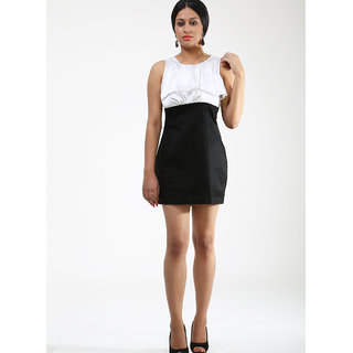 Schwof Black / White Frill Dress