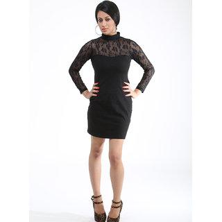 Schwof Black Hot Chic Net Dress