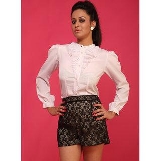 Schwof Black Lace Shorts