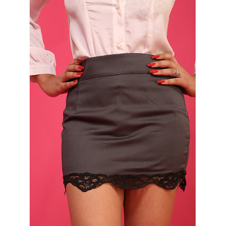 Schwof Grey Bottom Lace Skirt