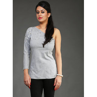 Schwof Grey Embroider Top