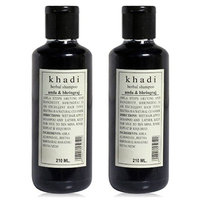 Khadi Natural Herbal Amla & Bhringraj Shampoo- Sls & Paraben Free - 210ml (Set O
