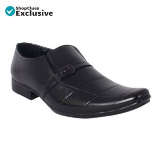 Shoeniverse Mens Black Lace Up Formal Shoes For Office Purpose