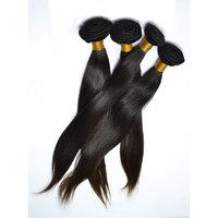 Virgin Indian Natural Straight Hair Machine Weft Black 12 Inch