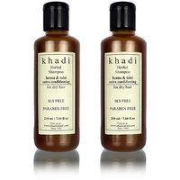 Khadi Herbal Henna Tulsi Extra Conditioning Shampoo- Sls  Paraben Free - 210ml