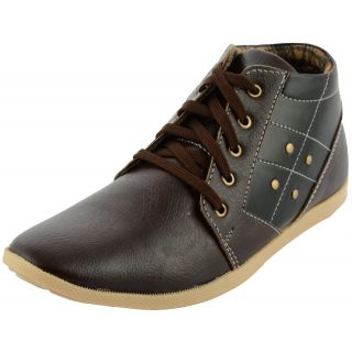Da-Dhichi Choclate Brown Ankle Length Stylish Trendy Casual Shoes