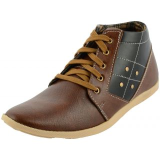 Da-Dhichi Brown Ankle Length Stylish Trendy Casual Shoes
