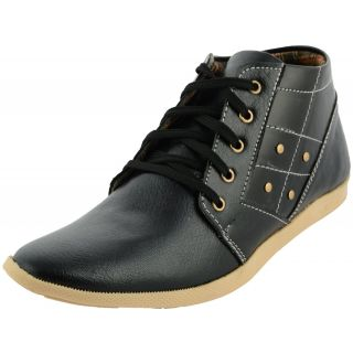 Da-Dhichi Black Ankle Length Stylish Trendy Casual Shoes