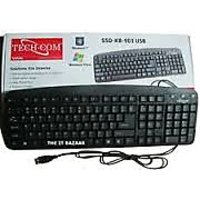 TechCom SSD-KB-901 Standard USB Keyboard Black