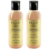 Khadi Natural Shikakai & Honey Hair Conditioner- Sls & Paraben Free - 210ml (Set