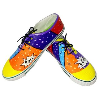 Funky N Trendy Unisex Colour Blast Canvas Casual Shoes