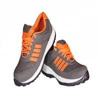 Delux Look Branded Orange Gray Sports Shoes