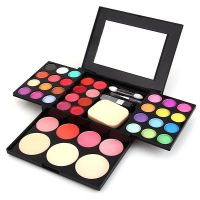 Fashionable And Natural ADS Make-up Kit (24 Colors Eye Shadow + 4 Colors Blush + 3 Colors Powder + 8 Colors Lip Gloss)