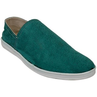 Fine Arch Casual Slip On Olive Shoes