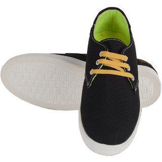 Pappi Boss Black Canvas Shoes For Boys , Men