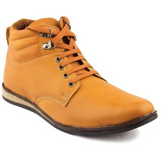 Dox Men'S Tan Ankle Length Casual Shoes
