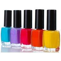 Slick Nail Polish(set Of 5 Colors)