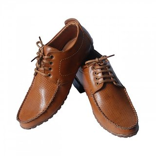 BROWN Leather Formal Casual Shoes For Mens