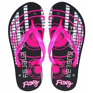 FIZIK Womens Flip Flop  Black-Neon-Pink Mini-2