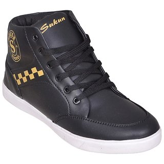 Sukun Black Casual Shoes For Men