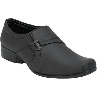 Troy Mens EA605 New Black Faux Leather Formal Slip-Ons