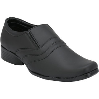 Troy Mens EA624 New Black Faux Leather Formal Slip-Ons