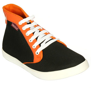 Zezile Mens Black Denim Casual Shoe