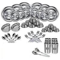 IDeals Stainless Steel Dinner Set - 51 Pcs
