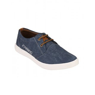 Footstamp Blue Casual Lace Up Shoes - 86729831