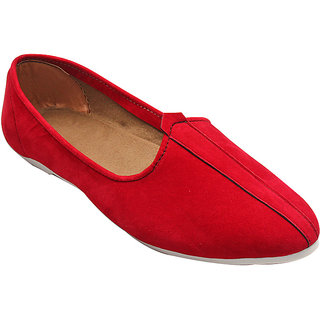 RED SUEDE LEATHER JALSA SLIP-ON WITH WHITE SOLE BY PORT