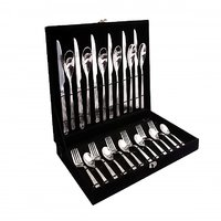 Shapes Alpine Cutlery Set Of Black Box With 24 Pcs.