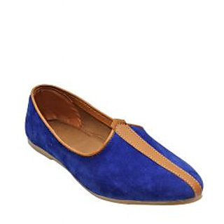 BLUESUEDE LEATHER JALSA SLIP-ON WITH WHITE SOLE BY PORT