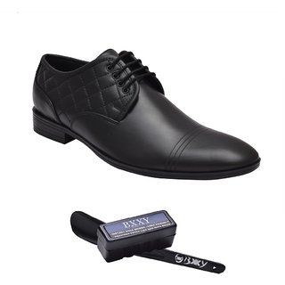 Bxxy Black Genuine Leather Lace Up Shoes