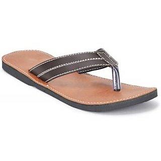 Tactic Men's Brown Slip On Sandals