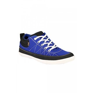 Jacs Men's Blue With White Lace Casual Shoes