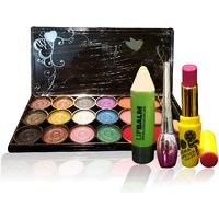 Combo Of Complete Makeover Eyeshdow Kit,Cinemetic Lipstick,Eyeliner  Lipbalm - 87035944