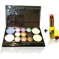 Combo Of Complete Makeover Eyeshdow Kit,Cinemetic Lipstick - 87038843