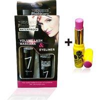 Combo Of Complete Makeover Cinemetic Lipstick, Eyeliner
