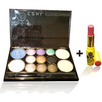 Combo Of Complete Makeover Eyeshdow Kit,Cinemetic Lipstick - 87071499