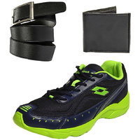 Combo Of Lotto Rapid Running Sports Shoes With FastFox Belt  Wallet (AR3181)