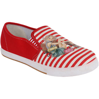 Authentic Vogue Red Canvas Sneakers