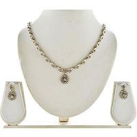 Asian Pearls & Jewels Austrian Diamond Necklace Set - 87149451
