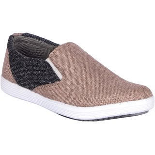 Jokatoo Mens Brown And Black Casuals Shoes