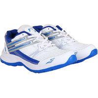 Fitze Sports Shoes For Men Made By Mesh Textile And Eva Sole White And Royal Blue