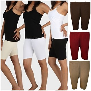 Women Short Pant Gym Pant Tights Pack Of 2