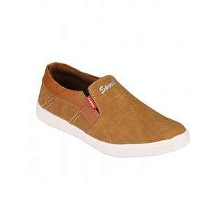 Footstamp Tan And Brown Casual Slip On Shoes